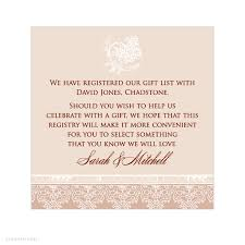 wedding donation registry registry information on wedding invitations invitation templates
