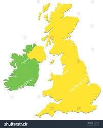 republic map outline smooth country shape vector stock uk ireland