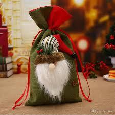 new christmas gift bag santa claus elk snowman mini candy