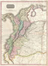 Columbia South America Map Mountains In South America Map