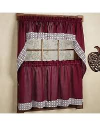Country Style Kitchen Curtains And Valances New Shopping Special Burgundy Country Style Kitchen Curtains With
