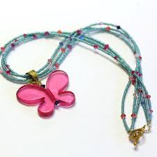 charm necklace with beads images Best seed bead butterfly products on wanelo jpg