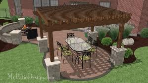 Diy Backyard Patio Download Patio Plans Gardening Ideas by Beautiful 12 X 14 Cedar Pergola With Stone Columns Download