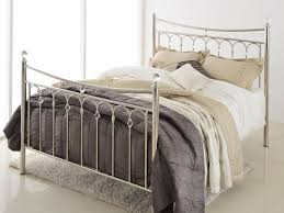 silver metal bed frame genwitch