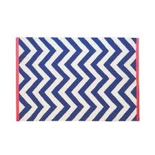 Large Chevron Rug Tribeca Chevron Rug Cream And Navy With Coral Edge Rugs Soft
