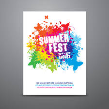 summer festival poster design template vector 123freevectors