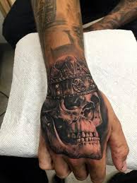 20 skull hands tattoos for men
