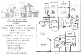 Media Room Plans - 4 bedroom 2 story 3601 4500 square feet
