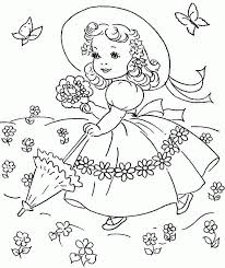 spring season colouring pages free for kids u0026 girls 20958