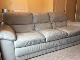 Bellini Leather Sofa Bellini Light Grey Leather 3 Piece Suite 3 Seater Sofa And 2