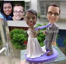figurine mariage mixte custom cake toppers 3d wedding cake topper figurine cake