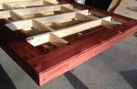How To Build A Wood Platform Bed Frame by How To Build A Diy Floating Bed Frame With Led Lighting