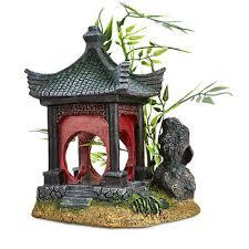 Asian Themed Fish Tank Decorations Imagitarium Asian Gazebo With Bamboo Ornament Petco