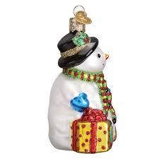 snowman ornament old world christmas