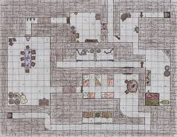 dungeon floor plans 1st floor ground floor of a d u0026d dungeon i drew and the forest