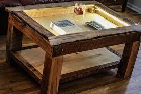 Coffee Table Box Live Edge Maple Shadow Box Coffee Table
