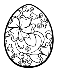 coloring decorative easter egg color coloring