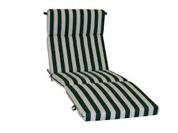 Patio Lounger Cushions Outdoor Patio Cushions For A Chaise Lounge In Green And White