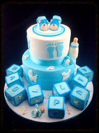 baby boy baby shower cake complete with little bear baby shoes