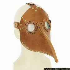 plague doctor halloween costume plague doctor mask light brown for your medieval costume