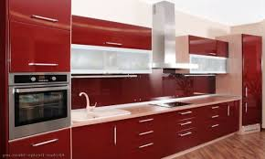 red kitchen cabinets a home design doxfo