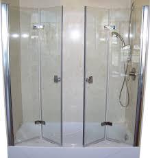 Inward Opening Shower Door Shower 95 Shocking Folding Shower Doors Images Inspirations