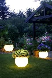 coat planters with glow in the paint for instant