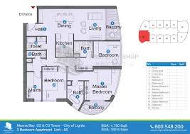 3 bedroom unit floor plans marina bay tower city of lights al reem island