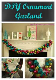 diy ornament garland home inspiration