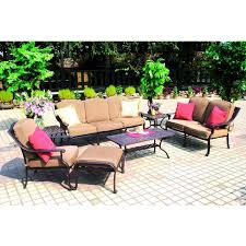 Patio Furniture Conversation Sets Clearance by Darlee Ten Star 7 Piece Cast Aluminum Patio Conversation Seating