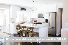 Designing A Kitchen Remodel by Kitchen Remodel On A Budget For Under 10 000