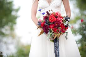 navy lace ribbon bridal bouquet with navy lace ribbon