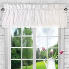 Solid Color Valances For Windows Solid Valances U0026 Kitchen Curtains You U0027ll Love Wayfair