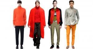 tendencias en ropa para hombre otono invierno 2014 2015 camisa denim tendencias para hombre otoño invierno 2014 15 color naranja