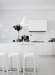 carrelage cuisine blanc cuisine blanche