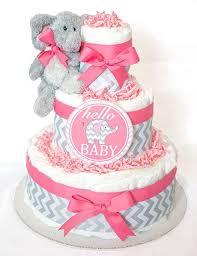 www la babycakes com adorable pink elephant diaper cake kelsey