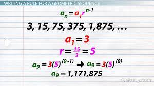 geometric sequence formula u0026 examples video u0026 lesson transcript