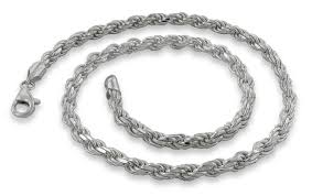 necklace chain sterling silver images Sterling silver 18 rope chain necklace 4 5mm the ice empire jpg