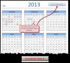 Excel Event Calendar Template Free 2013 Calendar And Print Year 2013 Calendar Today