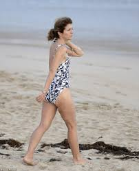 caroline kennedy enjoys a beach vacation in st barts daily mail