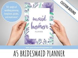 of honor planner book custom ultimate of honor wedding planner a5 custom wedding