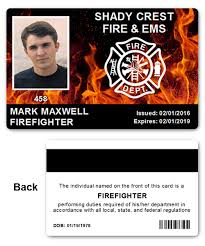 department ems pvc id card