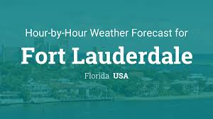 Florida Weather Map Today by Hourly Forecast For Fort Lauderdale Florida Usa