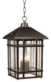 Exterior Pendant Light J Du J Craftsman 16 1 2 High Outdoor Hanging Light