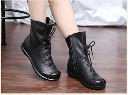 womens boots large sizes mujer chaussure genuine leather boots casual martin
