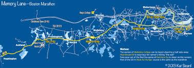 Boston Marathon Course Map by April 2013 Design Research Process