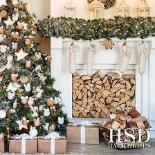 christmas photography backdrops christmas tree fireplace photography backdrop christmas background