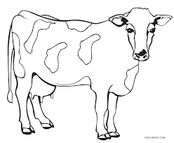 Cow Coloring Pages Free free printable cow coloring pages for cool2bkids