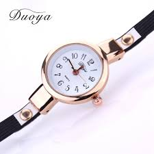 ladies leather bracelet watches images Duoya new fashion watches women pendant gold luxury women leather jpg