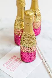how to decorate mini champagne bottles with glitter articles